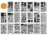 BLISSANY Schablonen Set - 20 Stück