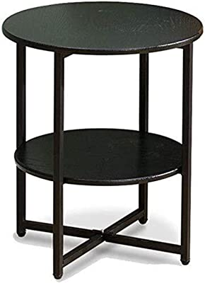 Pusaman Double Living Room Furniture Small Round Table, Iron Frame Black White Coffee Tables, Kitchen Tables Bedroom Living Room Storage, can be stored for Debris to The negotiating Table