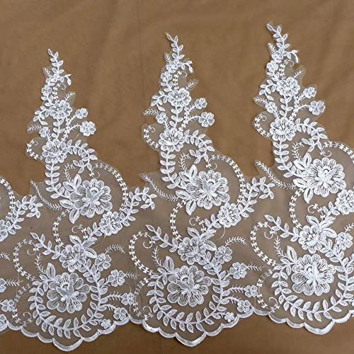 Beautiful Large Width Ranking TOP20 shipfree lace 5 Sequins Yards White Robin Trim
