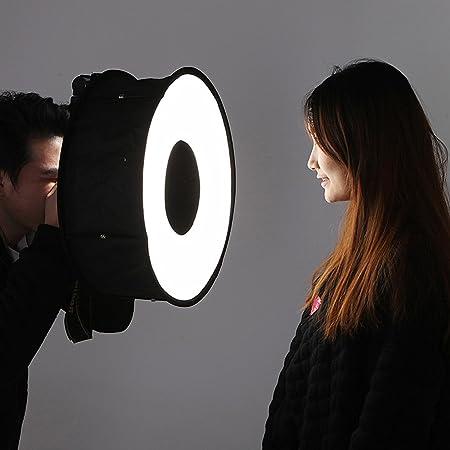 SAKANAソフトボックス 円形 ディフューザー 小型 ソフトボックス円型 折りたたみ45*45*16cm ラウンドフラッシュ ストロボ ディフューザー ミニソフトボックス リング型ソフトボックス マクロと人物撮影に適応 ストロボ