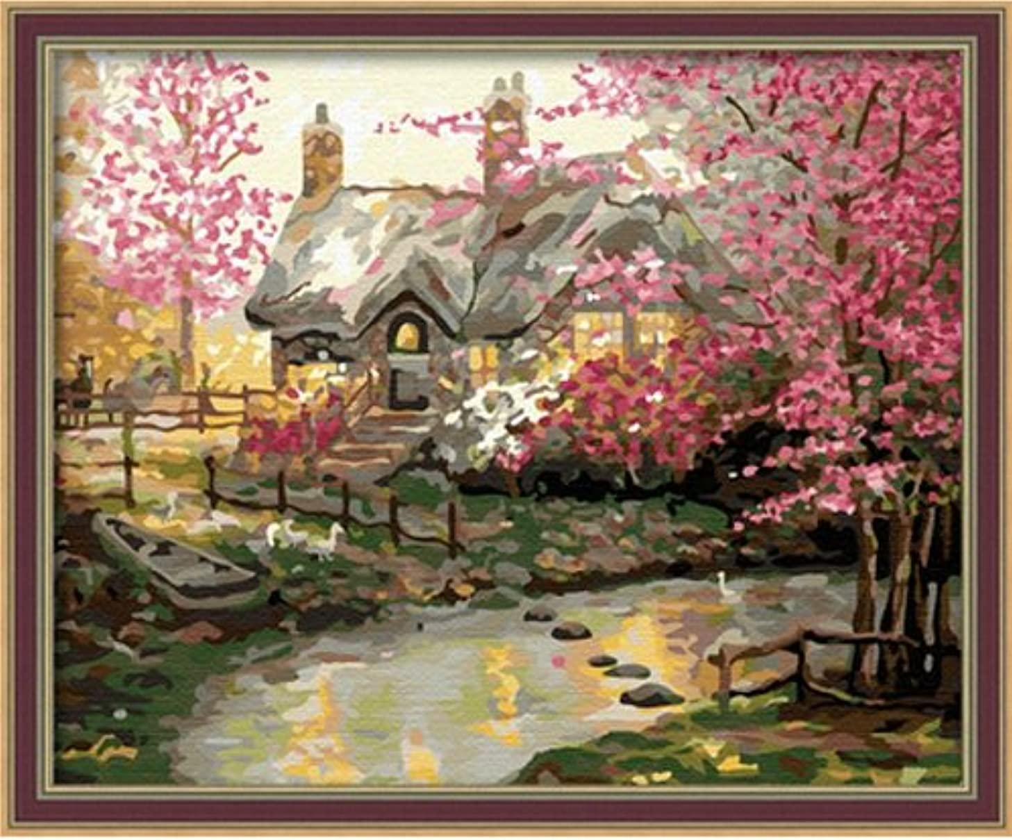 Diy oil painting, paint by number kit- My dream house 1620 inch.
