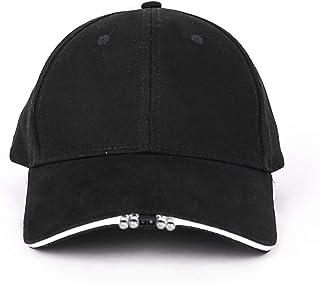 Buhui - Cappellino da baseball a LED, regolabile, ricaricabile, per caccia, pesca, campeggio, escursionismo, durante la notte