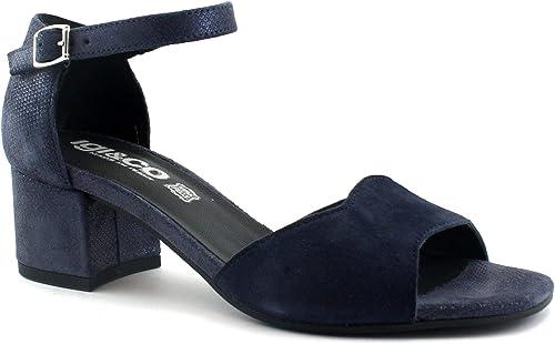 IGI & CO 3185211 zapatos de Noche azules mujer Sandalias tacón Correa de Gamuza