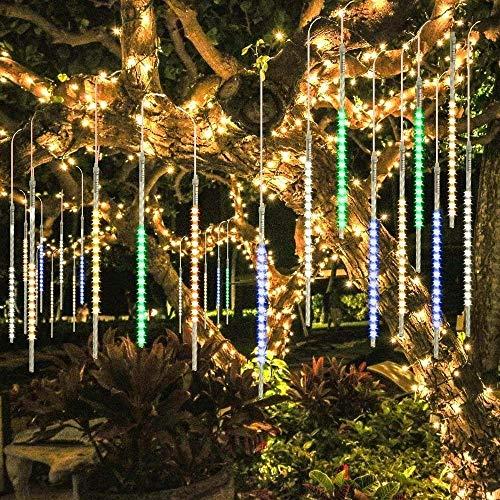 BlueFire Amélioré Lumières de 50CM 10 Tube 540LED Météores Pluie Lumières Imperméable lumières de Noël pour Mariage Parti Halloween Jardin D'arbre Décor (Multicolore)