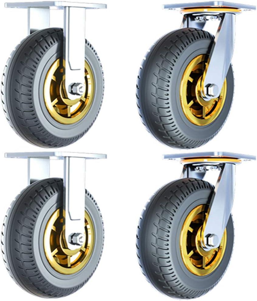 Casters HXBH Heavy Popular popular Duty 4 Swivel Wheels Industrial Industry No. 1 Rubber Silent