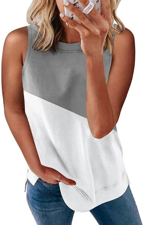 Gerichy Tank Tops for Women, Womens Tank Shirt Workout Crewneck Sleeveless Casual Summer Vest Tank Tees Blouses Tunics