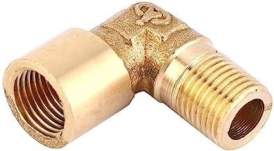 Messing pijpfitting elleboog, 2 stuks zuiver messing elleboog pijpfitting MBSP FBSP draadpijpconnector(1/8)