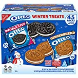 Oreo Winter Treats - Oreo Limted-Edition Gingerbread & OREO Double Stuf Cookies (45 Snack Packs Total)