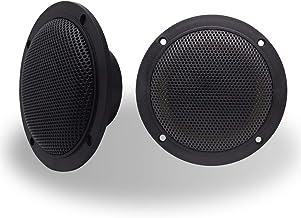 $59 » Arrer 4 Inch Dual Marine Speaker-Waterproof Outdoor Audio Stereo Sound Speaker with 160Watts Power, Handling for Boat, ca...