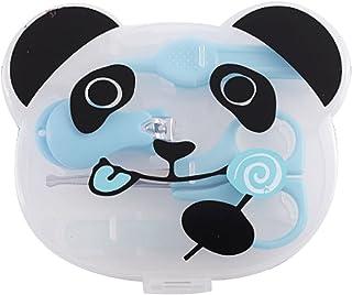 (POMAIKAI) ベビー 爪切り ハサミ 爪やすり ピンセット 新生児から ネイルケア セット (ブルー)