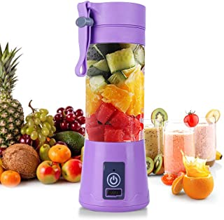 Domybest Blender Smoothie Portable USB Rechargeable 380 ml Mini Mixeur de Fruits et Legume Mixeur de Jus Portable Presse A...