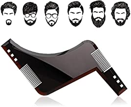 YOMYM The Beard Black Beard Shaping & Styling Tool with inbuilt Comb for Perfect line up & Edging, use with a Beard Trimmer or Razor to Style Your Beard & Facial Hair