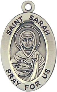 HMHReligiousMfg Sterling Silver Catholic Patron Saint Oval Medal Pendant, 7/8 Inch