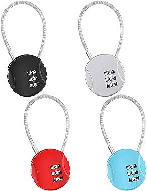 4 Pieces Colorful Small Gate Locks Password Zoo Locks 3 Digit Outdoor Gate Locks Assorted Easy Gym Locks Zinc Alloy Keypad Lo