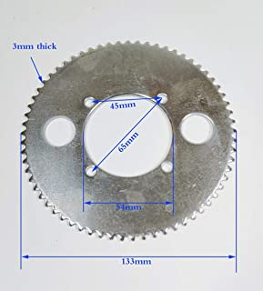25H 65T Tooth 54mm Rear Chain Sprocket For 2 Stroke 43cc 49cc Engine Chinese Mini Moto Kids Pocket Bike Goped Scooter ATV Quad