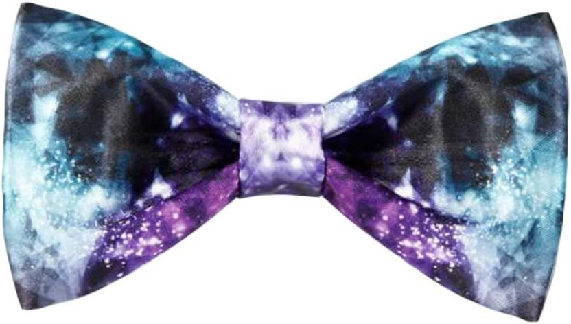 Wukong Direct Men Bow Tie Polyester Neckties Pre-Tied Bow Tie Starry Sky Pattern Party/Wedding