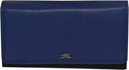 Laveri Black Leather For Women - Flap Wallets