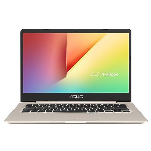 "ASUS VivoBook S14 S406UA-BV121T - Ordenador portátil de 14"" HD (Intel Core i5-8250U, 8 GB de RAM, 256 GB SSD, Windows 10 Home) Dorado - Teclado QWERTY Español"