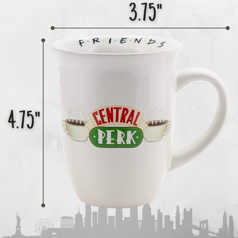 Ceramic Coffee Mug for Cappuccino Black 14 Oz