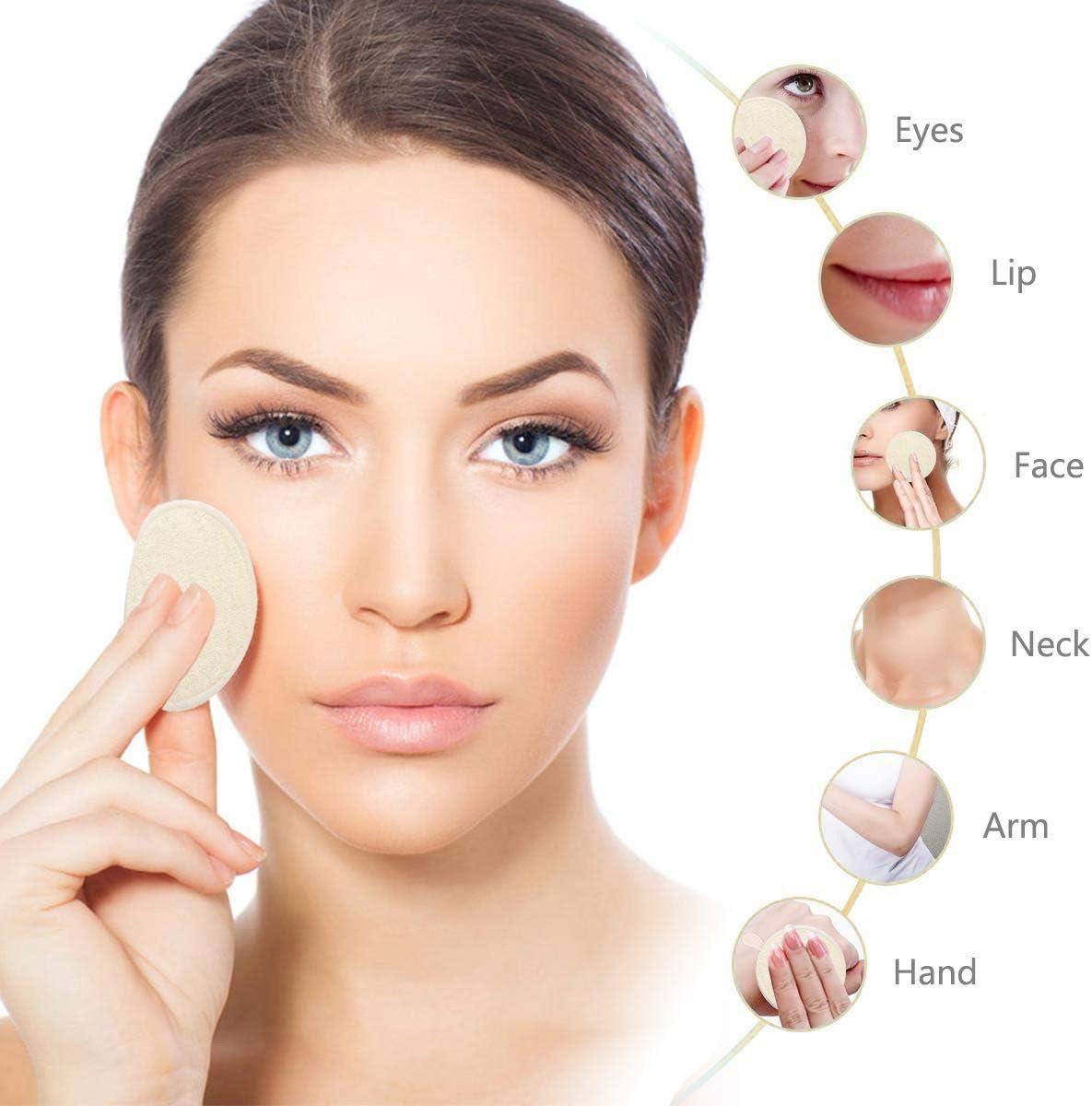 pour oeil//visage maquillage Remover essuyer 12 pcs Fibre de bambou ou coton Coussins d/émaquillants r/éutilisables bambou demaquillant lavable bio pour le nettoyage du visage Avec Sac /À Lessive