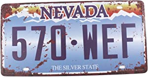 6x12 Inches Vintage Feel Home,Bathroom,Shop and Bar Wall Decor Souvenir Metal Tin Sign Poster Plaque (Nevada The Silver State)