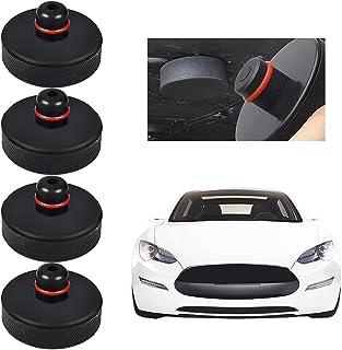 minghaoyuan 4pcs Jack Pad Bloc, Bloc en Caoutchouc Tesla Model 3 Cric Tampon Hydraulique Crics de Levage pour Model 3 / X/...