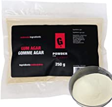 PowderForTexture Premium Agar Agar Powder for Baking and Cooking, 250g (8.8oz) | Vegan/Vegetarian Substitute for Gelatin, Emulsifier, Molecular Gastronomy