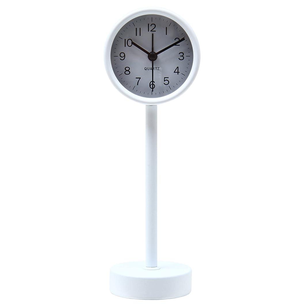 話すメンダシティ四半期不二貿易(Fujiboeki) 置き時計 ホワイト 高さ22.5cm スタンド 99055