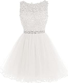3884d38839a Chugu Short Prom Party Dress Homecoming Dresses for Women Teens A Line  Tulle Beaded C6