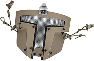 TMC Airsoft Mask Spartan Metal Mesh Mask for Airsoft Paintball Milsim - Coyote Brown