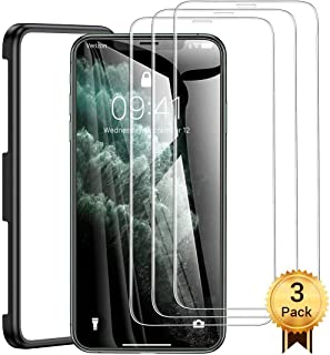 AINOPE 3 Packs Screen Protector Compatible with Apple iPhone 11 Pro Max & iPhone Xs Max Install Frame iPhone Xs Max Tempered Glass Screen Protector Case Friendly for Apple 6.5 & iPhone 11 Pro Max