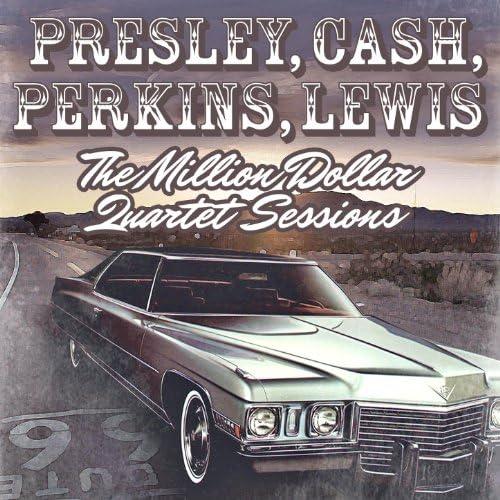 The Million Dollar Quartet (Elvis Presley, Carl Perkins, Jerry-Lee Lewis, Johnny Cash)