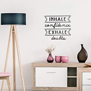 Vinyl Wall Art Decal - Inhale Confidence Exhale Doubts - 22