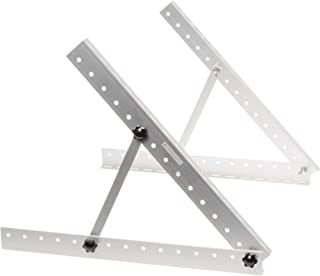 GreenLighting Aluminum Solar Panel Mounting Rack Bracket - 22 Inch Heavy Duty Adjustable Mount Kit for RV, Boat, Motorhome, Camping - 50lb Capacity