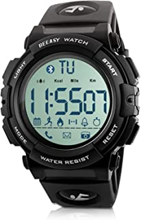 Beeasy Mens Digital Sport Watch with Pedometer 49mm Big Number Military Watches Waterproof with Stopwatch Backlit