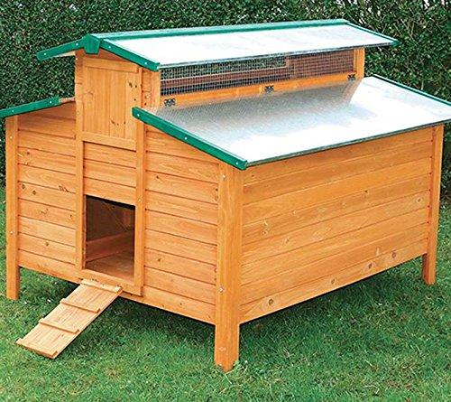 FINCA CASAREJO Gallinero para Exterior con Capacidad para 8-12 gallinas y Cuatro...
