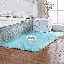 Carpet Bedroom Living Room Rectangular Sofa Coffee Table Pad Warm Breathable Rugs Children's Play Mat,4,80 * 120cm