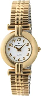Peugeot Ladies Gold Tone Round Expansion Link Watch