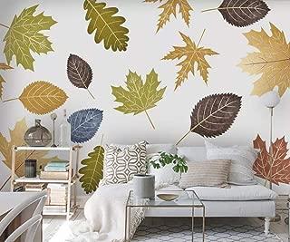 Wallpaper 3D Fresh Hand Drawn Plant Leaves Modern Custom Photo Wallpaper Murals Wall Decor