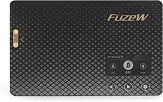 FuzeW, Wireless Bitcoin Hardware Wallet - Supports Multiple Cryptocurrency (Bitcoin, Ethereum, Dash Coin, Litecoin, Ripple, Bitcoin Cash, Doge Coin and More) | FuzeW | Not a Fuze Card