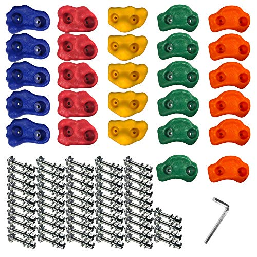 Gatehouse Quality Products Rock Climbing Holds for Kids 27 Set - Climbing Wall Holds for Kids Outdoor. Rock Wall Holds for Rock Climbing for Kids, Rock Climbing Indoor, Outdoor and Rock Climbing Wall