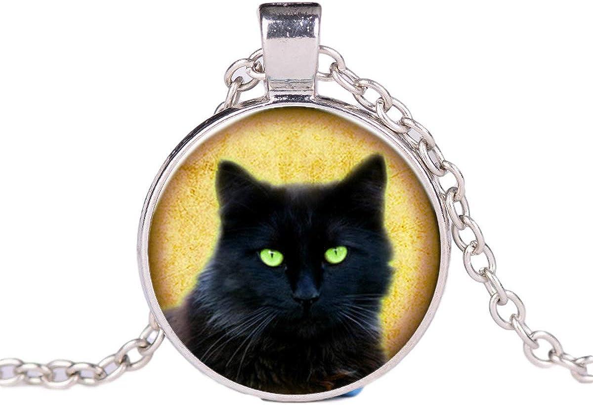 IDB Black Nashville-Davidson Mall Cat Necklace - Pendant Cute Oklahoma City Mall C Fluffy