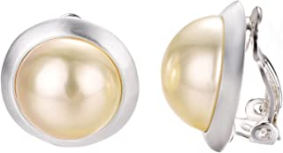 Clip Earrings For Non Pierced Ears 18k White/Rose Gold Plated Fashion Lady Clip-On Earrings
