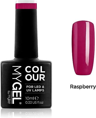Vernis à ongles MyGel, de MYLEE (10ml) MG0019 - Raspberry Manucure UV / LED Nail Art Pédicure pour un usage professio...
