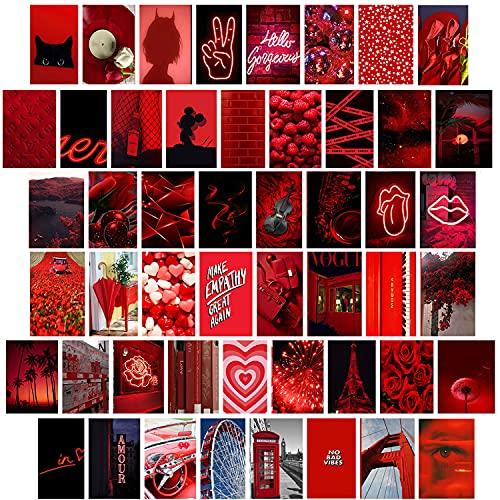 50 Stks Esthetische Foto Voor Muur Collage, Chique Print Kit, Kamerdecoratieposter Voor Meisjes, Tieners Kaarten…