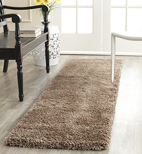 Safavieh Milan Shag Collection SG180-1414 Dark Beige Runner (2' x 8')
