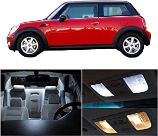 SCITOO 11Pcs White Interior LED Light Package Kit Replacement Bulbs Fits for Mini Cooper 2003-2009