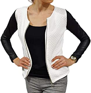 neveraway Women Raglan Zip-Front Casual Fit Long Sleeve Fashion College Jacket