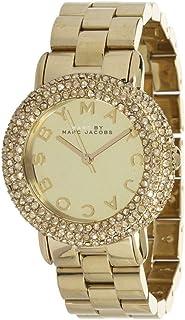 ساعة مارك من مارك جاكوبز ذهبية للنساء بسوار من الستانلس ستيل - MBM3191