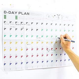 100 Days Planer Sheet Calendar Plan Paper 100 Days Countdown Schedule Wall Calendars-5 Pack